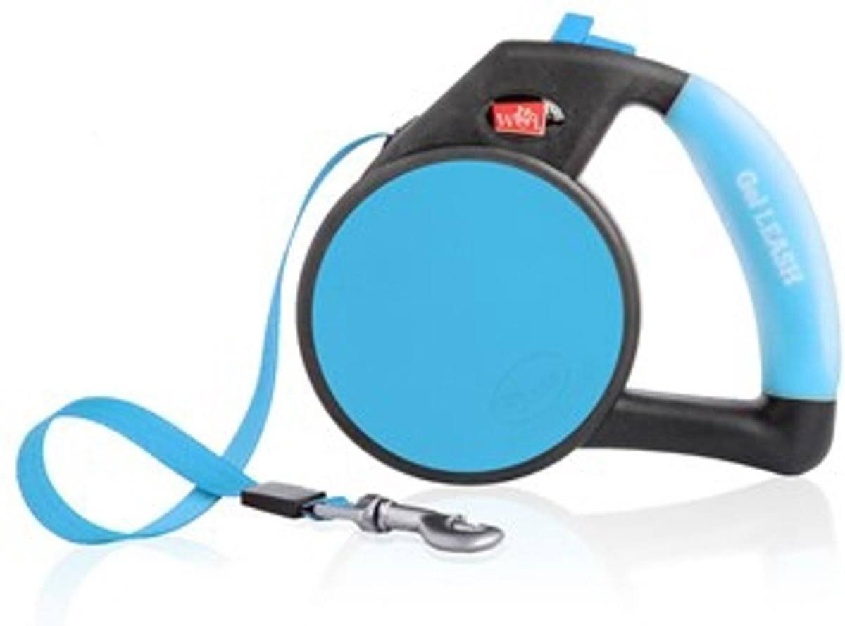 Wigzi Retractable Gel Pet Leash - Blue Splash