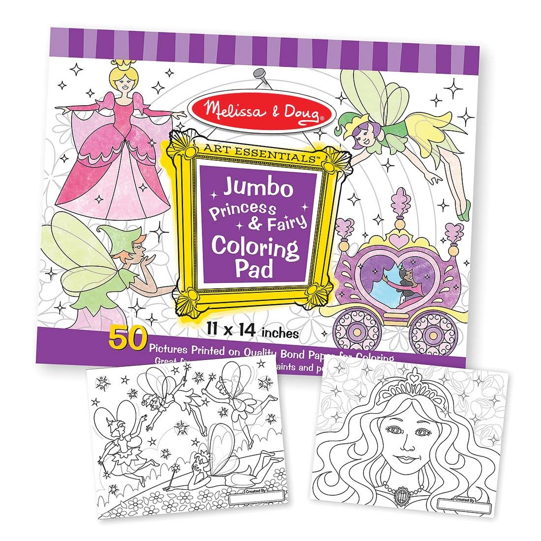 Melissa & Doug Jumbo Coloring Pad, Princess & Fairy