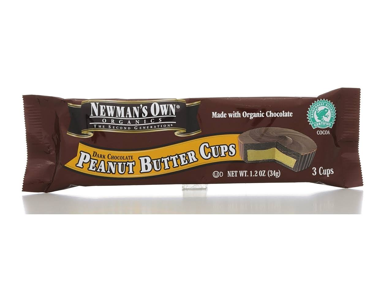 Newman's Own Organics Peanut Butter Cups - Dark Chocolate , 3 Cups