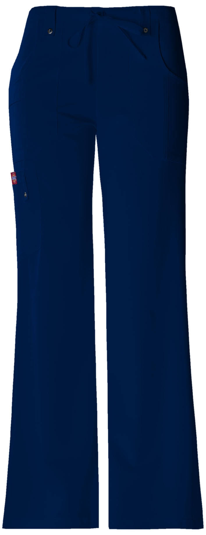Dickies Womens Xtreme Stretch Fit Drawstring Flare Leg Pant - Navy, Medium Petite