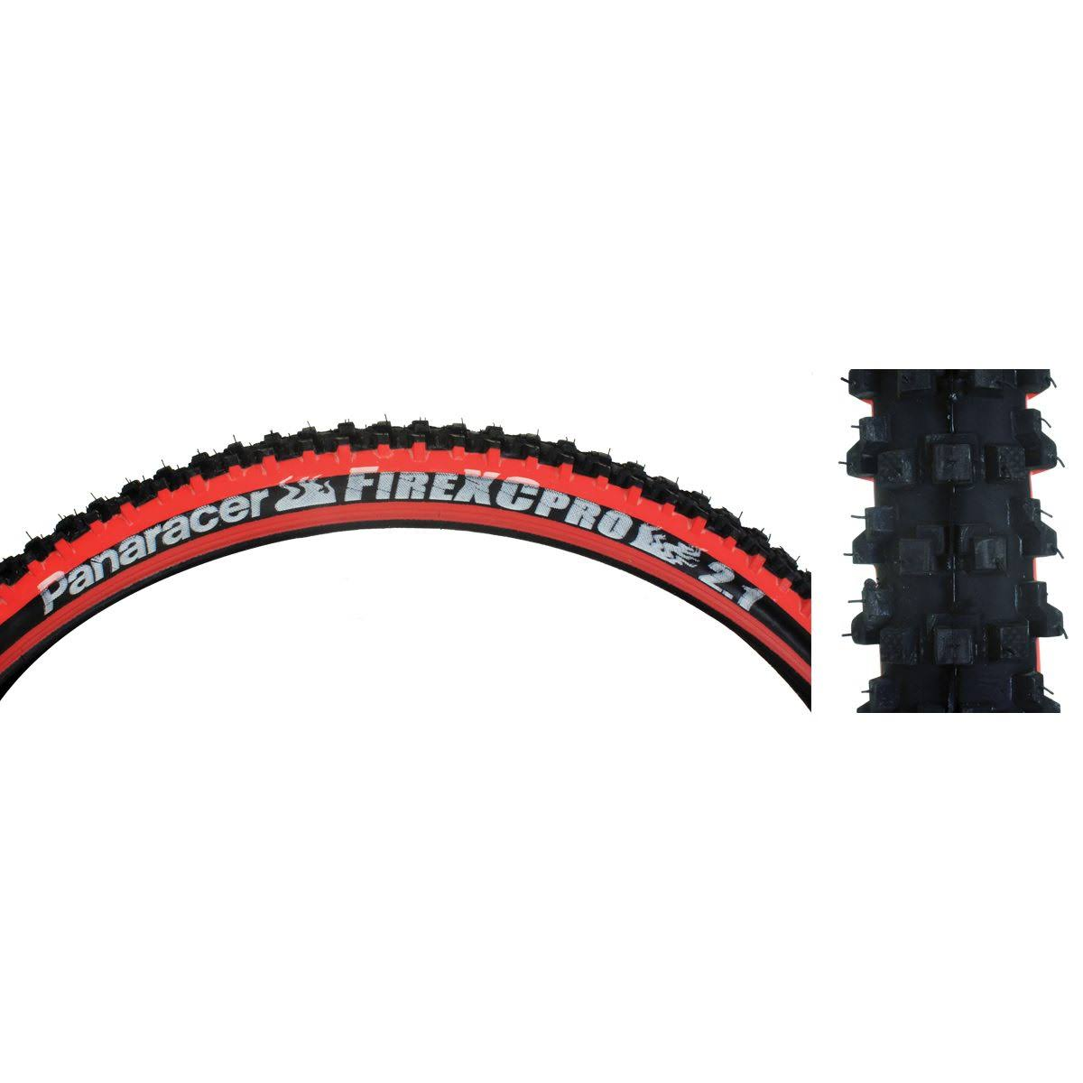 Panaracer Fire XC Wire MTB Tire - 26x2.1, Black/Red, 700g