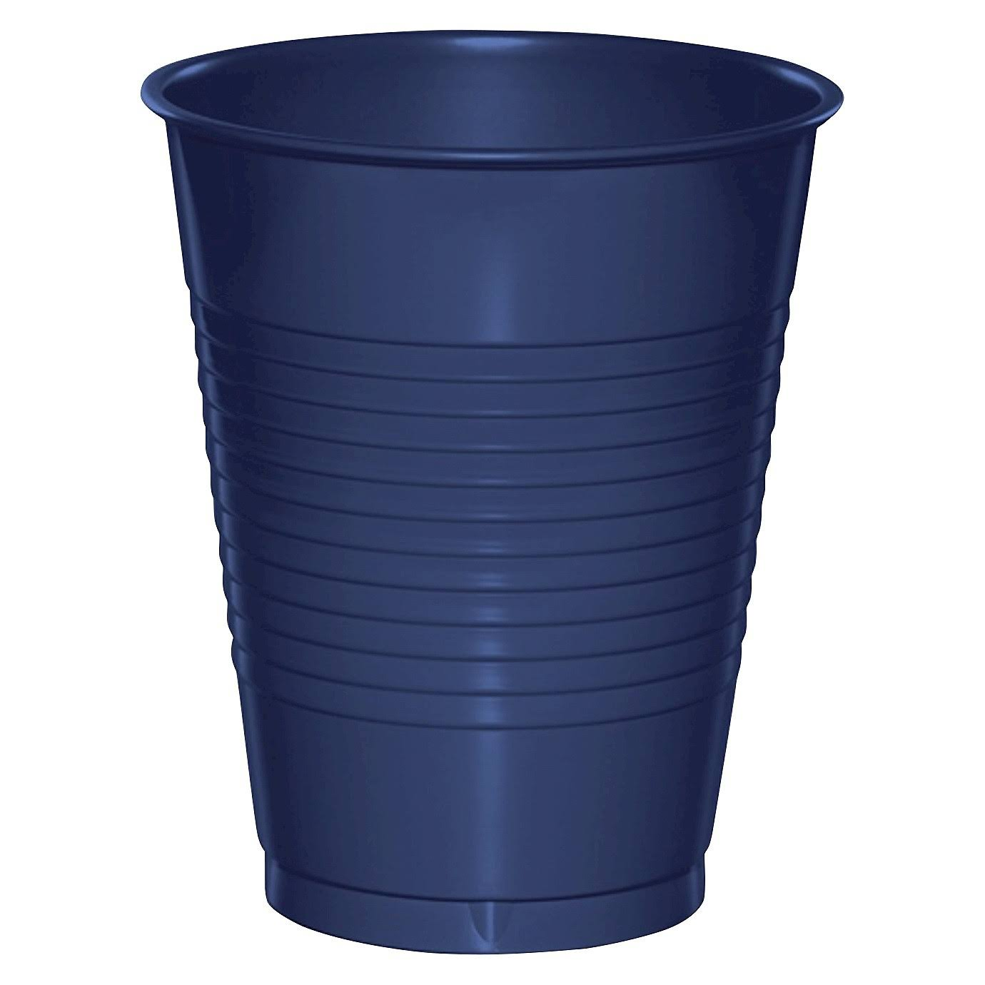 Creative Converting Touch of Color Plastic Cups - 16 oz, Navy, 20ct