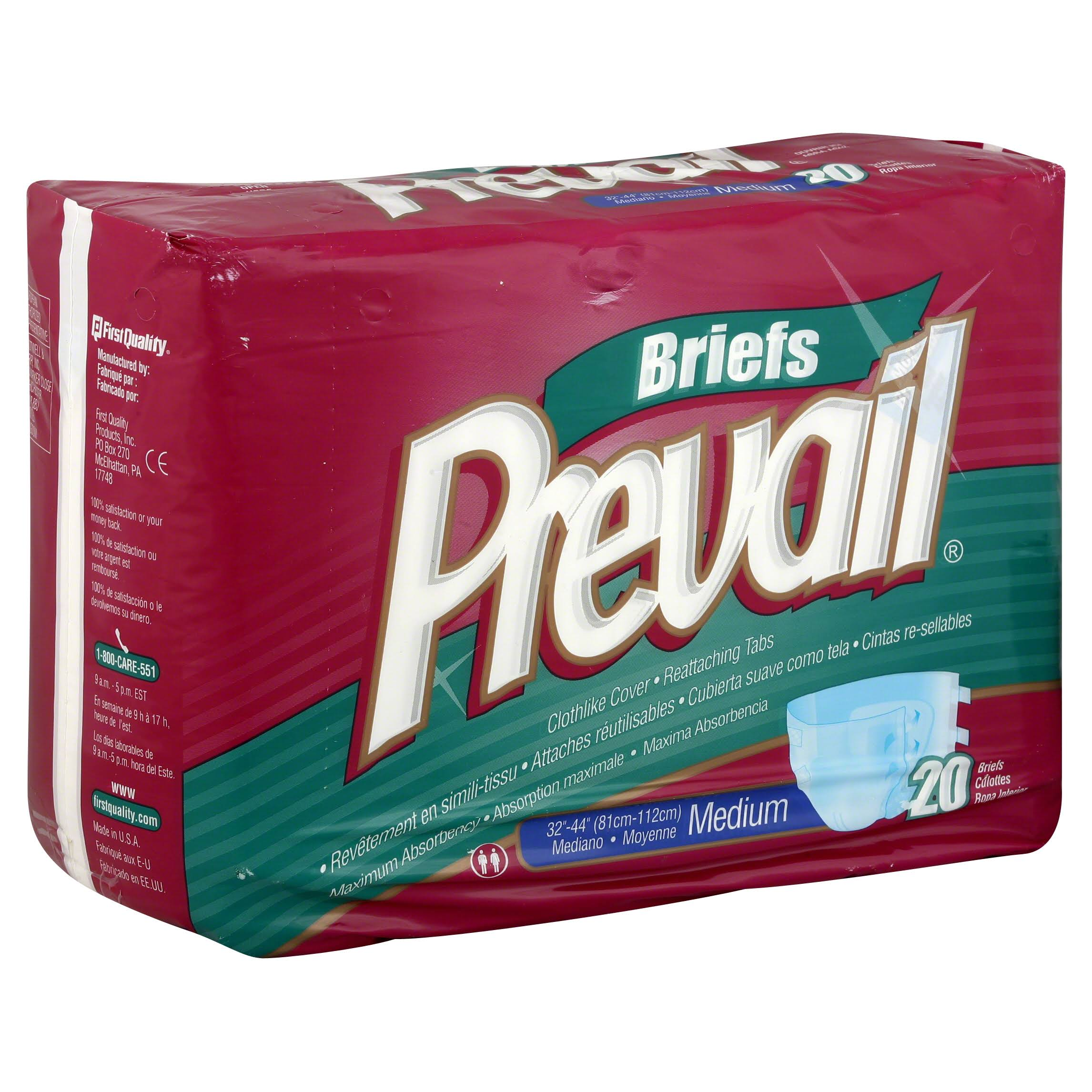 Prevail Maximum Plus Absorbency Briefs - Medium, 20ct