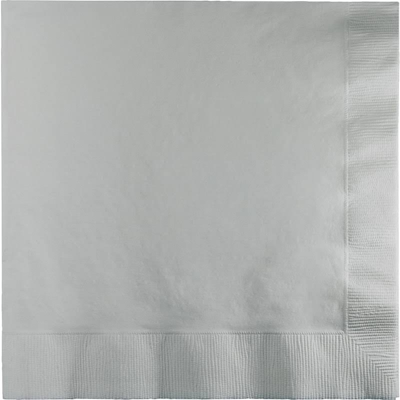 Touch of Color Lunch Napkins - 3-ply, Shimmering Silver, 50ct