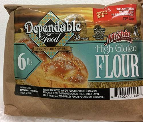 Masbia Dependable Food High Gluten Flour 6 lb 96 oz. Pack of 1.