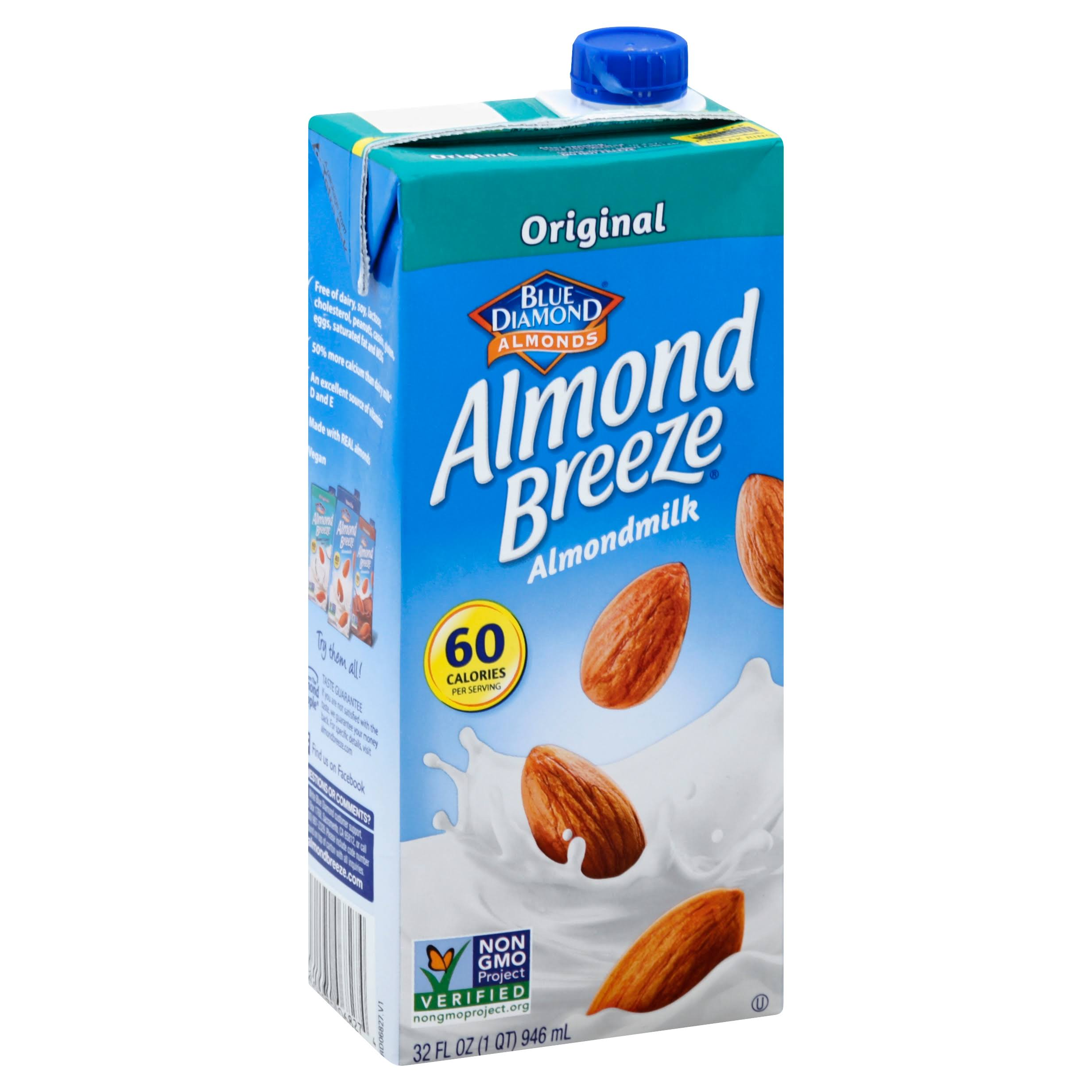 Blue Diamond Original Almond Breeze NonDairy Beverage - Original, 32oz