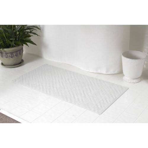 Carnation Home Fashions Small Rubber Bath Mat White