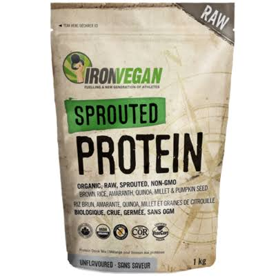 Ironvegan Sprouted Protein - Unflavoured, 1kg