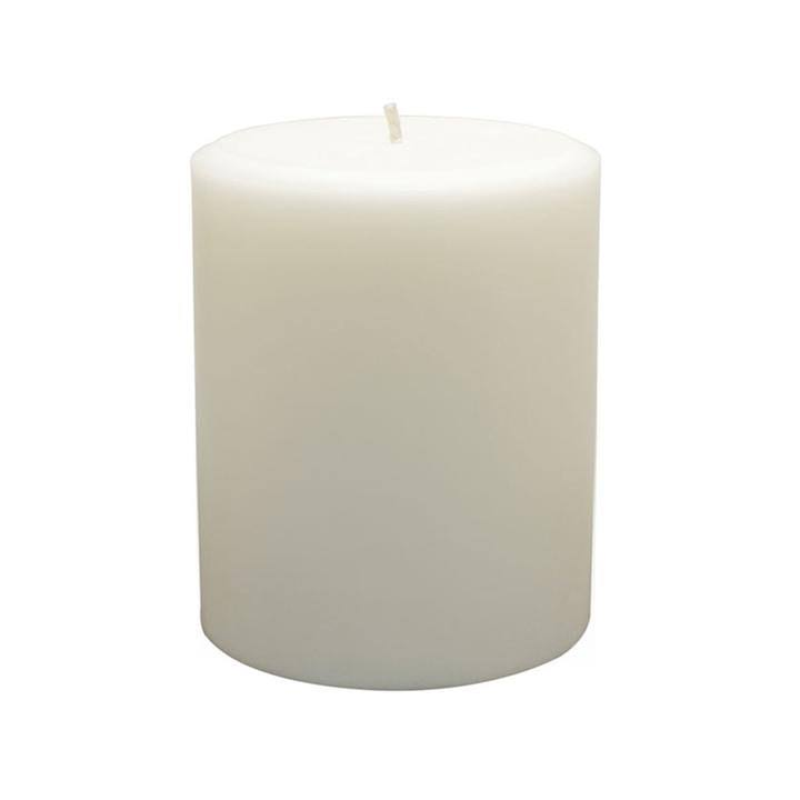 Northern Lights Unfragranced Pillar Candles - Pure White