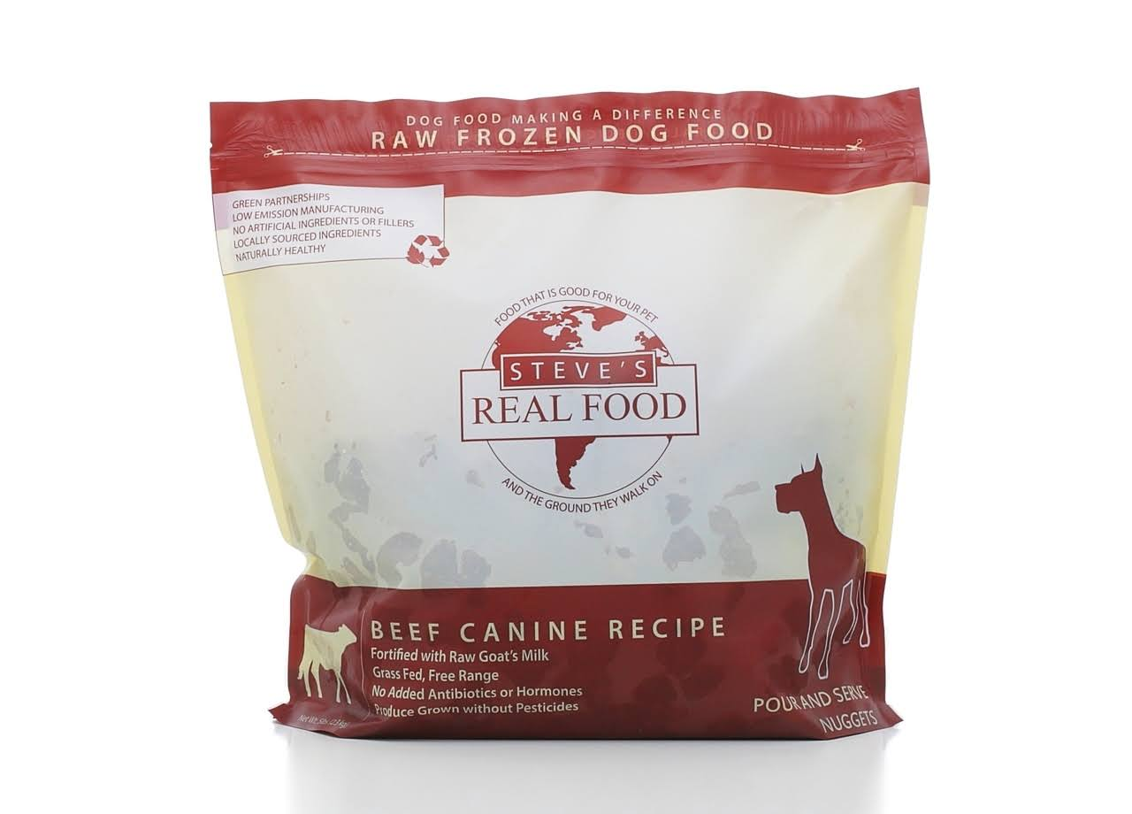 Steve's Real Food Raw Frozen Canine Recipe - Beef, 5lb
