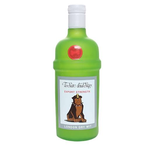 Silly Squeakers Liquor Bottle Dog Toy - to Sit and Stay - One Size