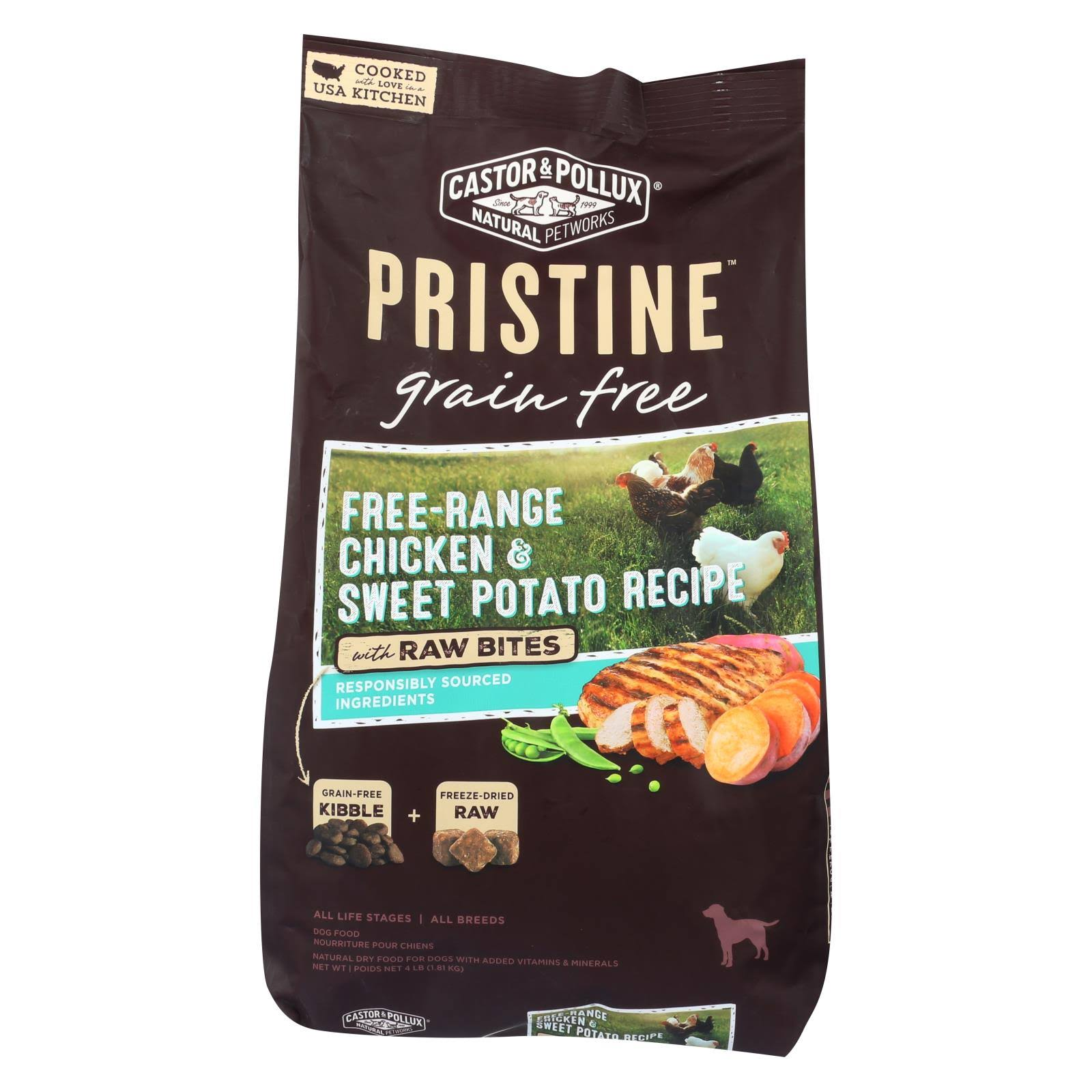 Castor and Pollux Pristine Grain Free Dry Dog Food - Chicken and Sweet Potato, 4lbs
