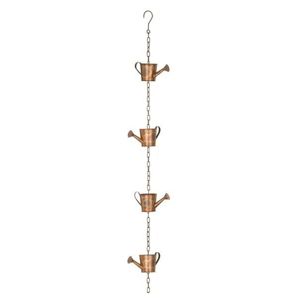 Regal Art & Gift Flamed Copper Watering Can Rain Chain