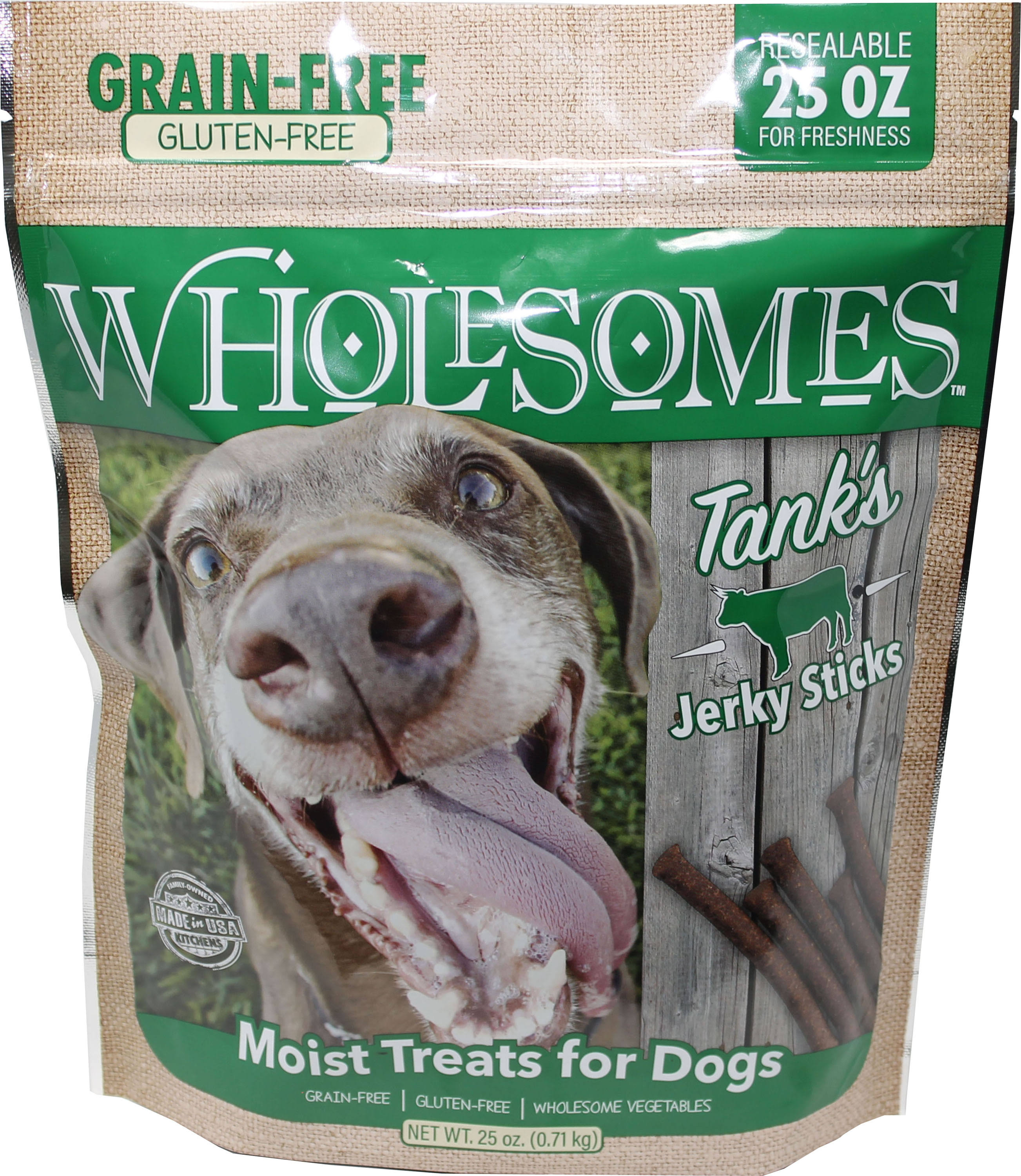 Wholesomes Tank's Jerky Sticks Grain Free Dog Treats, 25 oz