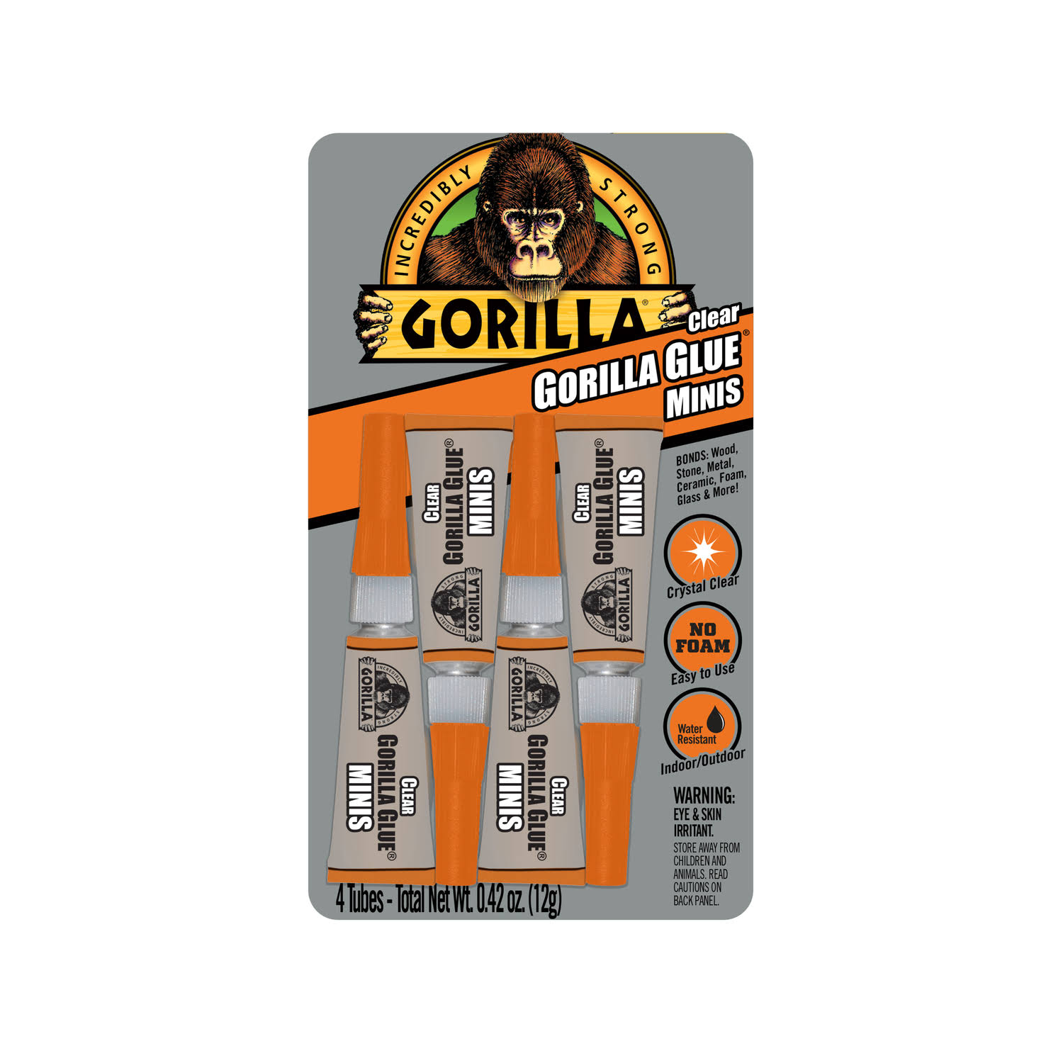 Gorilla High Strength Glue All Purpose Adhesive - Clear, x4