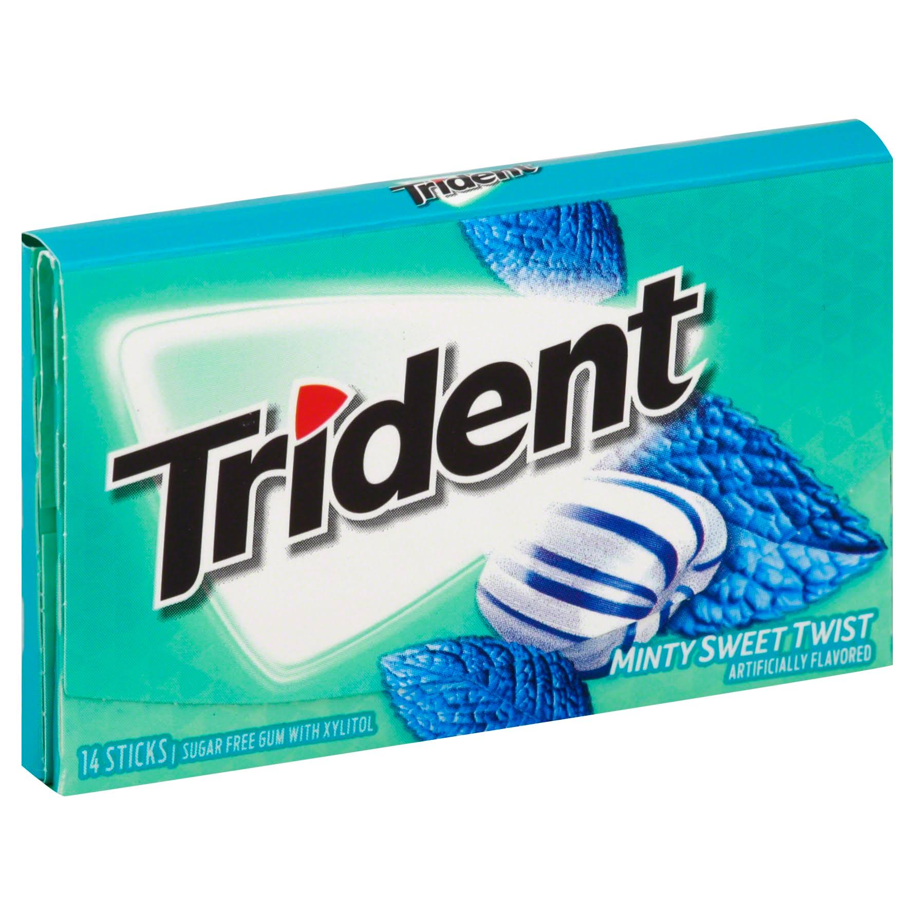 Trident Gum, Sugar Free, Minty Sweet Twist - 14 sticks