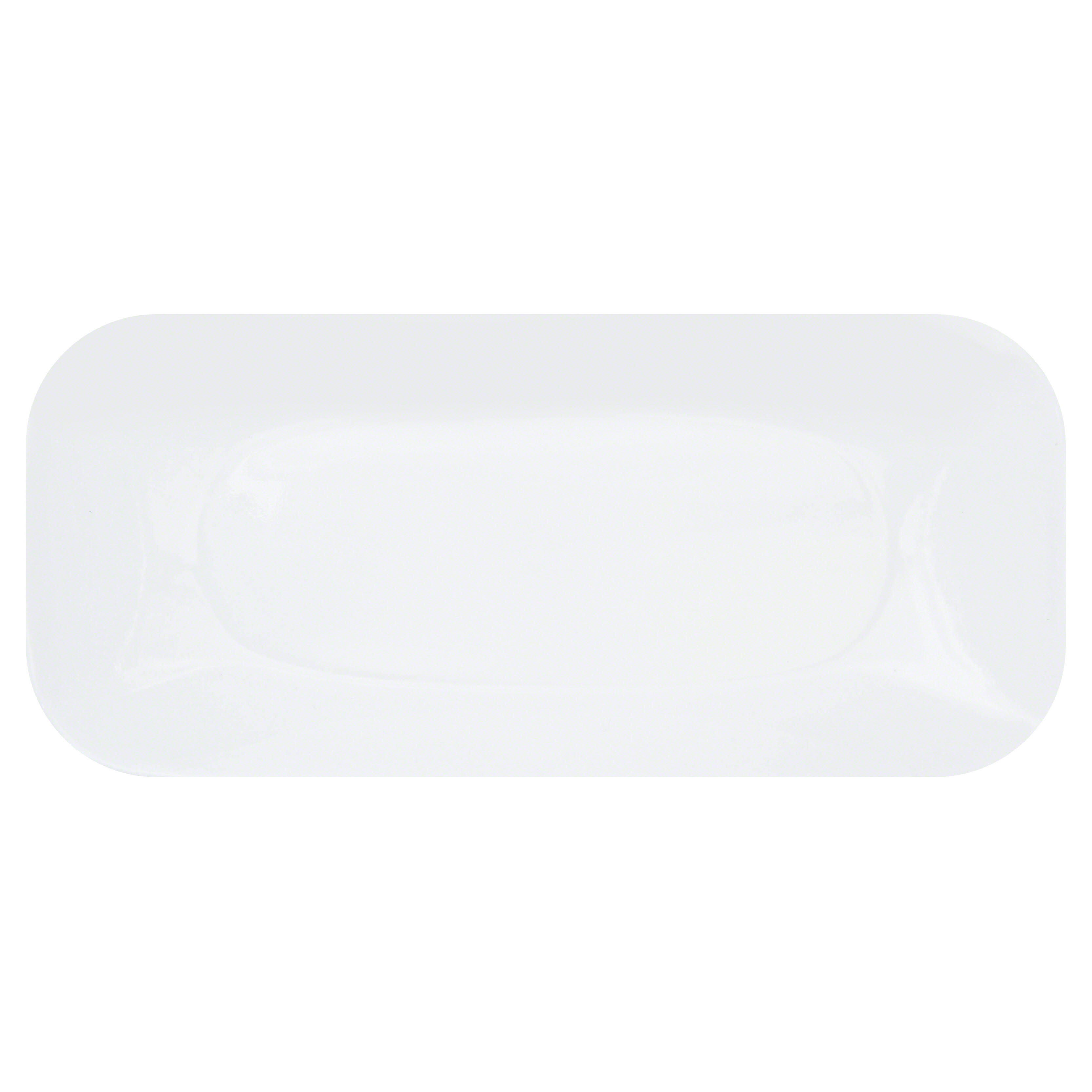 Corelle Square Round Serving Tray - Pure White, 10.5""