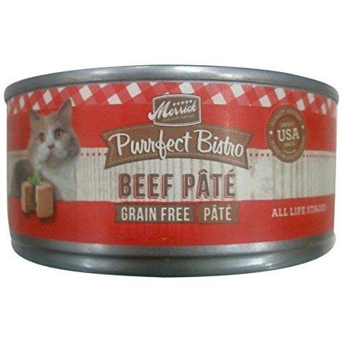 Merrick Purrfect Bistro Grain Free Canned Cat Food - Beef Pate, 5.5oz