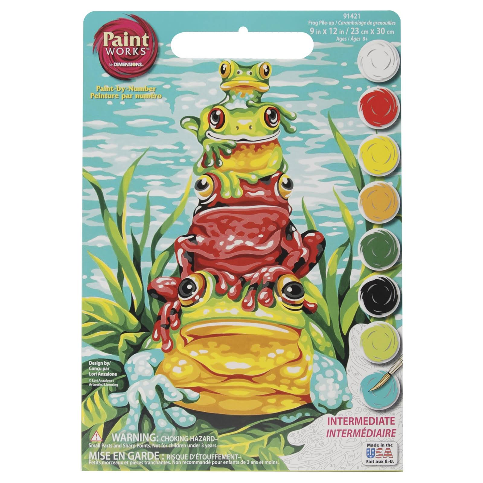 Dimensions Needlecrafts Paintworks Paint By Number Kit - Frog Pile Up