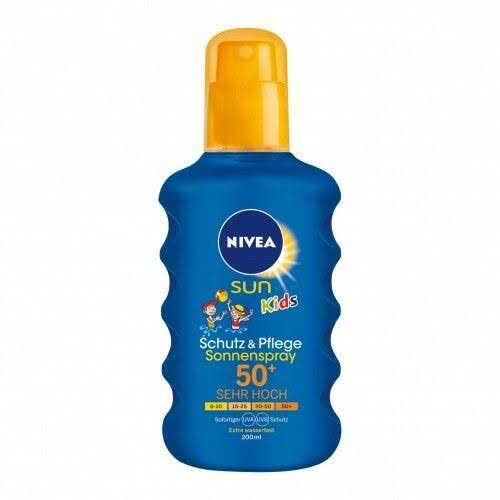 NIVEA SUN Kids Moisturising Sun Spray - SPF 50+, Very High, 200ml