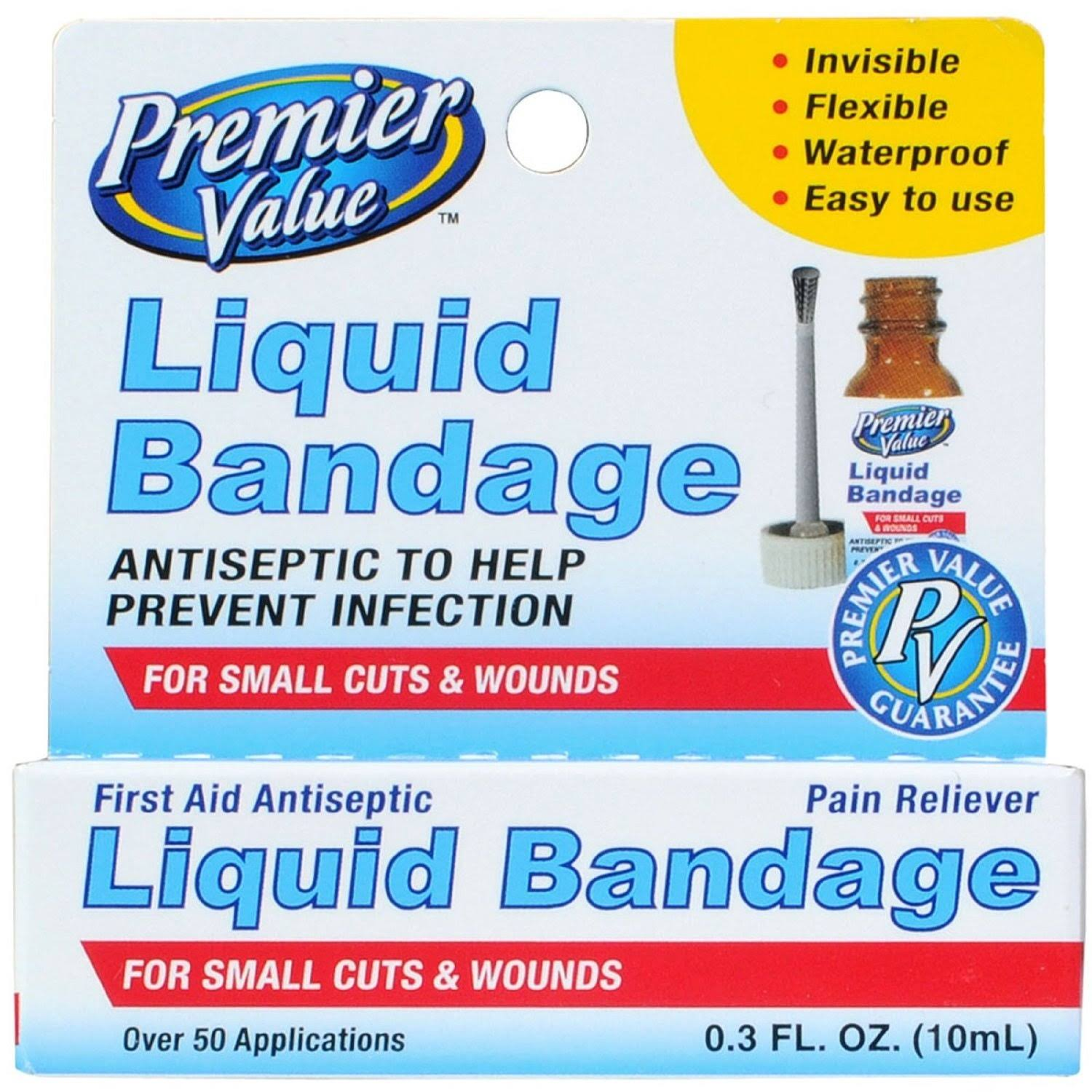 Premier Value Liquid Bandage - 0.3oz