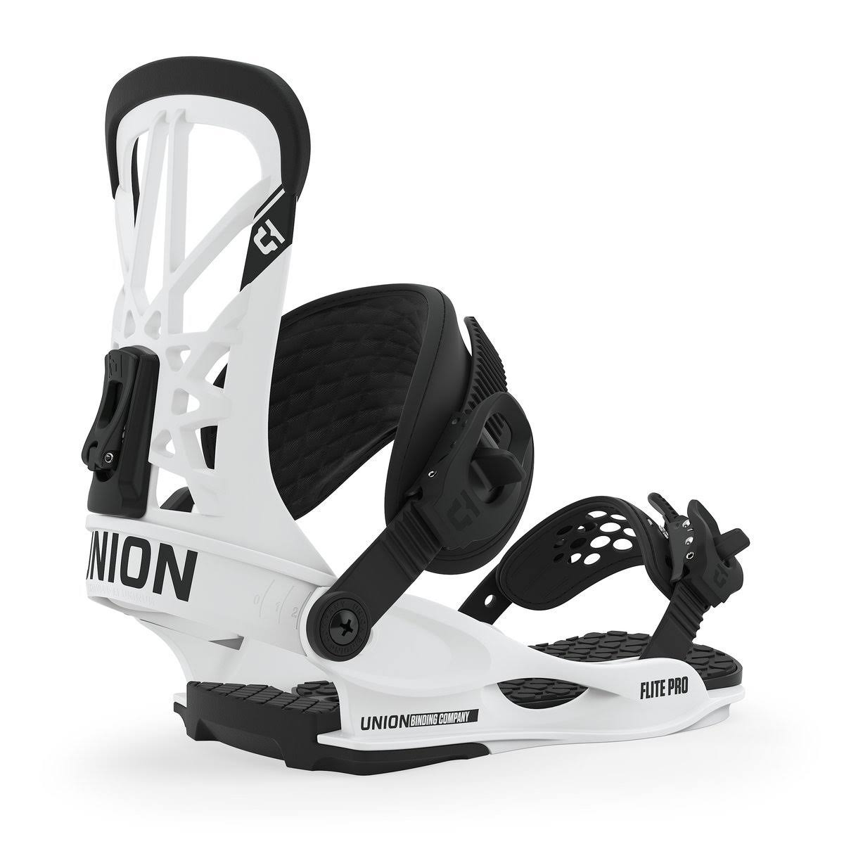Union Flite Pro Snowboard Bindings 2020 (White,M)