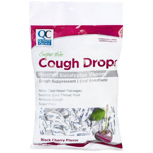 Quality Choice Cough Drops Black Cherry Sugar Free 25 ct