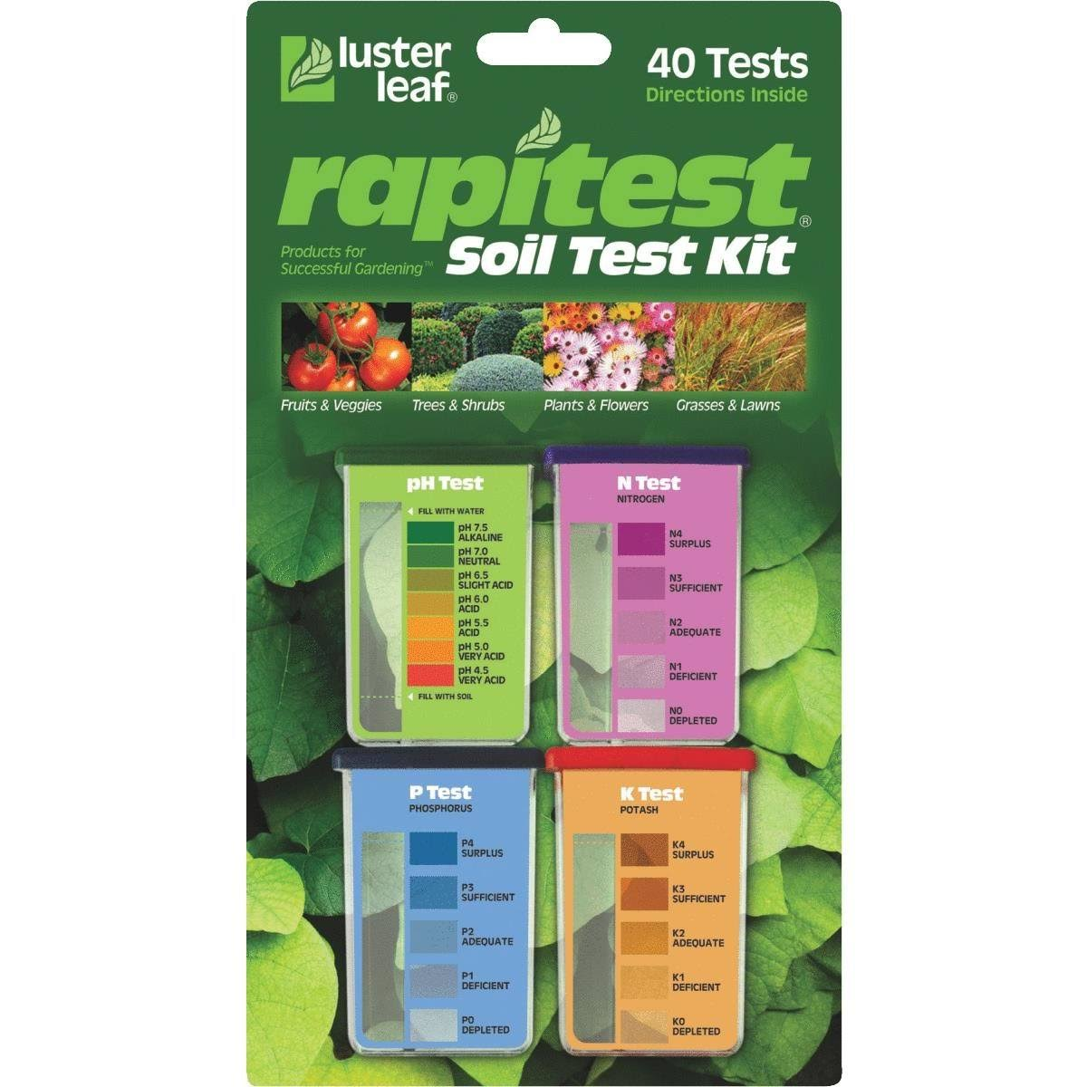 Luster Leaf Rapitest Soil Test Kit - 40 Tests