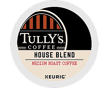 Tully's Coffee House Blend K Cup Portion Pack - for Keurig K Cup Brewers, 24ct