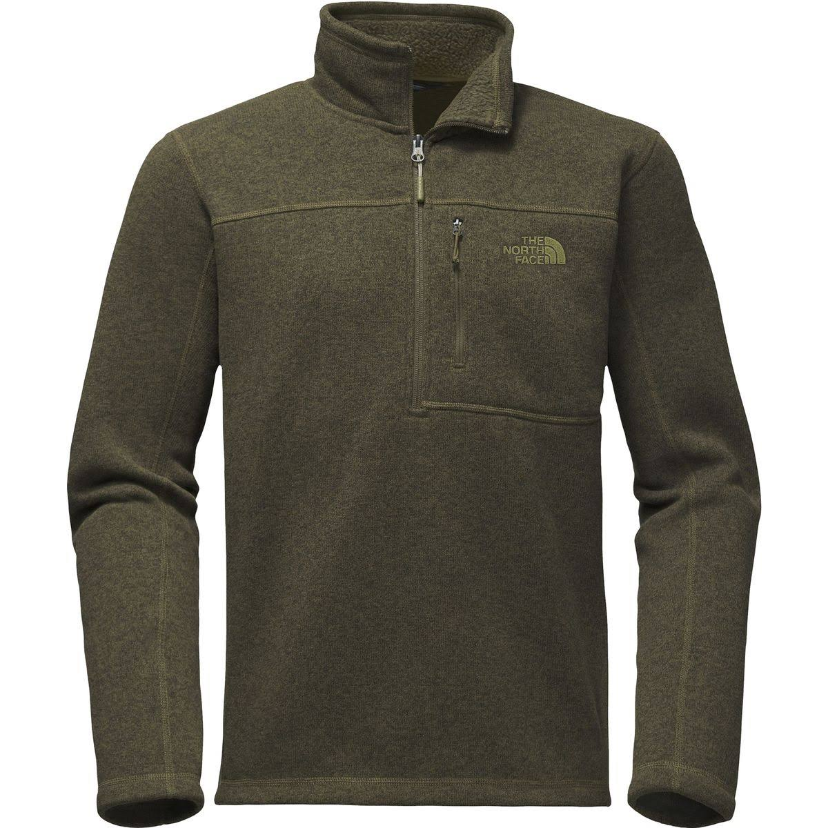 The North Face Gordon Lyons 1/4 Zip - Men's New Taupe Green Heather M