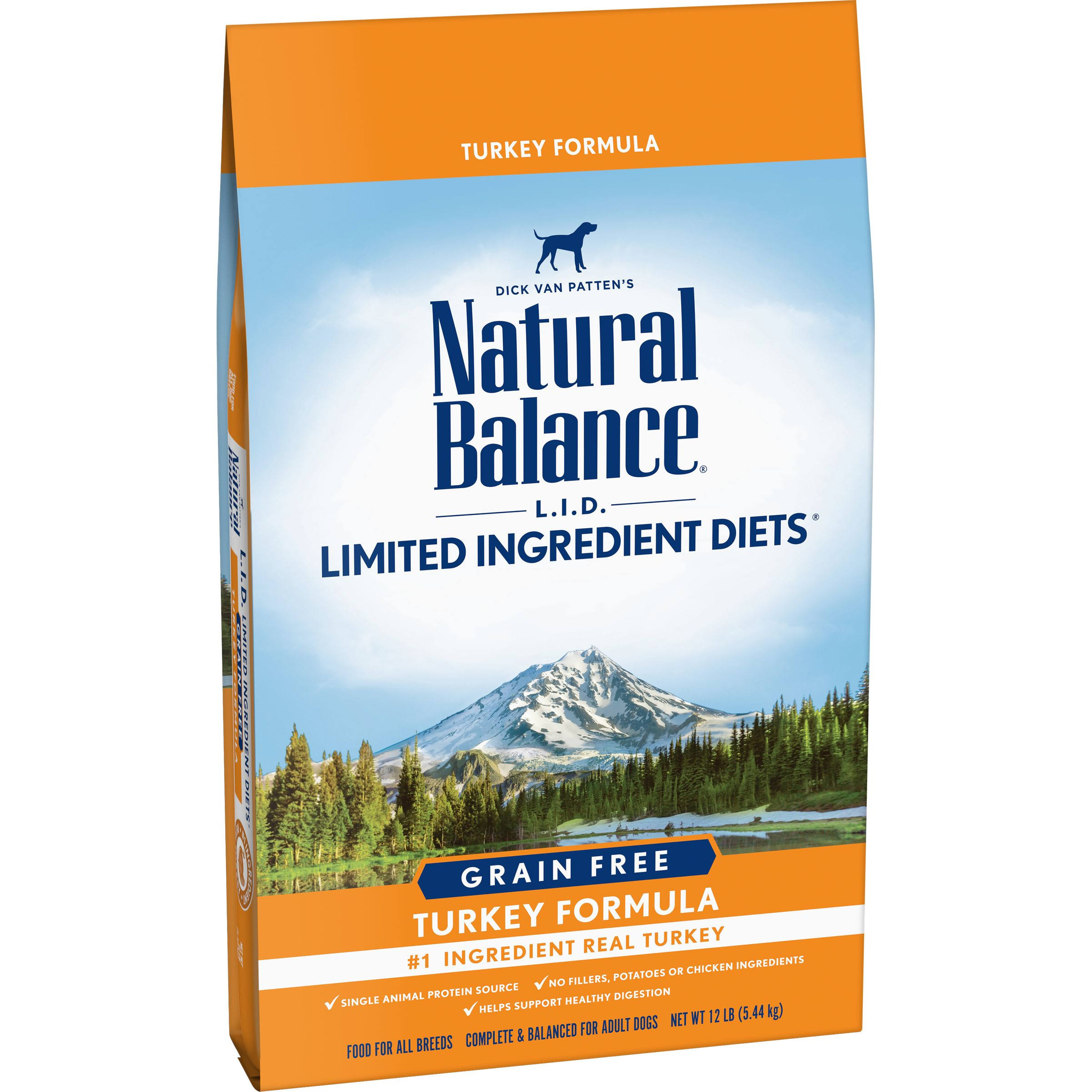 Natural Balance Limited Ingredient Diets Turkey Formula Dry Dog Food - 12lb
