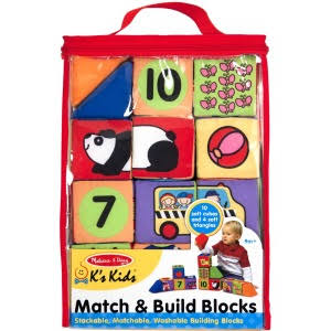 Melissa and Doug Match and Build Blocks Set
