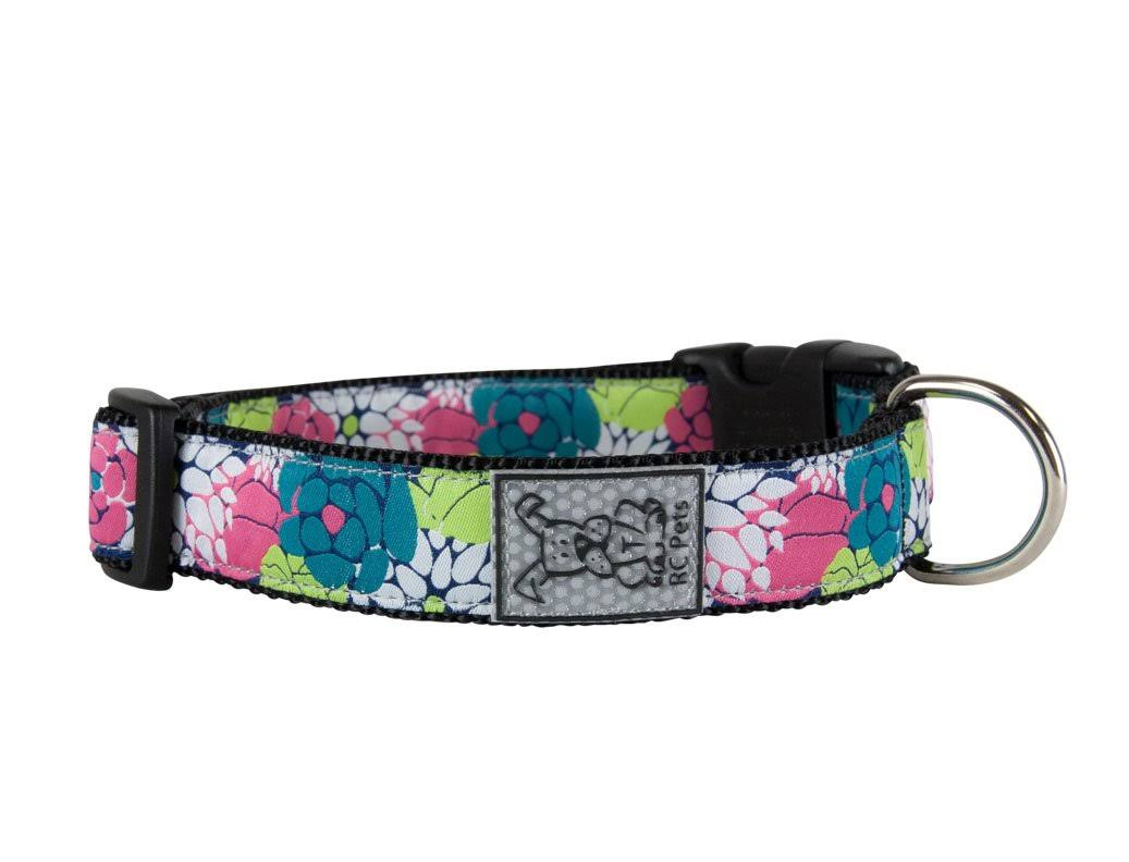 RC Pet Products 1 inch Adjustable Dog Clip Collar, Large, Full Bloom