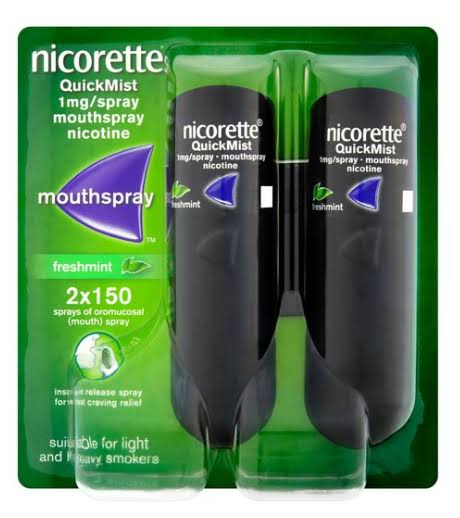 Nicorette QuickMist Mouthspray Freshmint - 2 x 150 Sprays