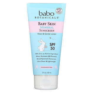 Babo Botanicals Baby Skin Mineral Sunscreen Lotion - SPF 50, 90ml