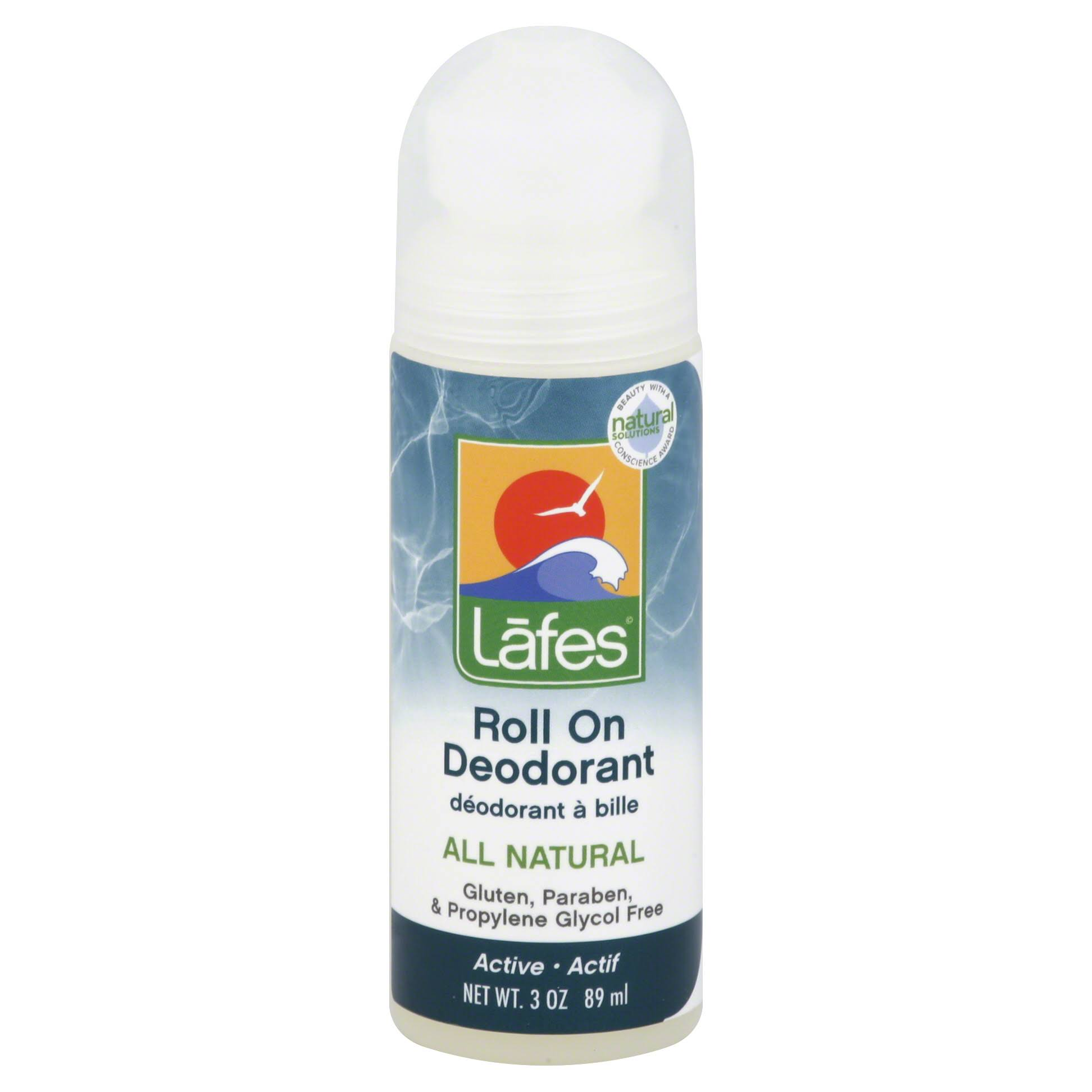 Lafes All Natural Roll On Deodorant