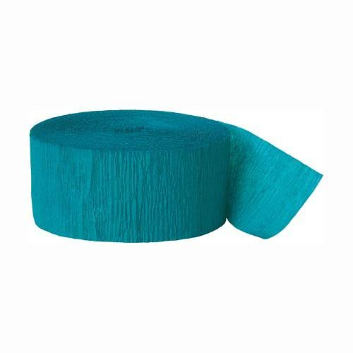 Party Decorations Crepe Paper Streamer - Teal, 81'