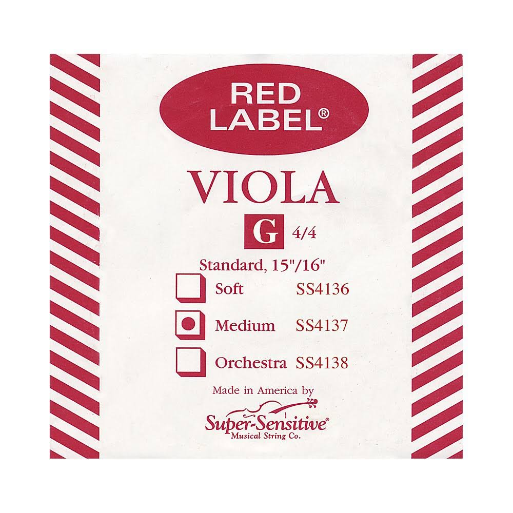 Super Sensitive Red Label 4137 Viola G String - Standard