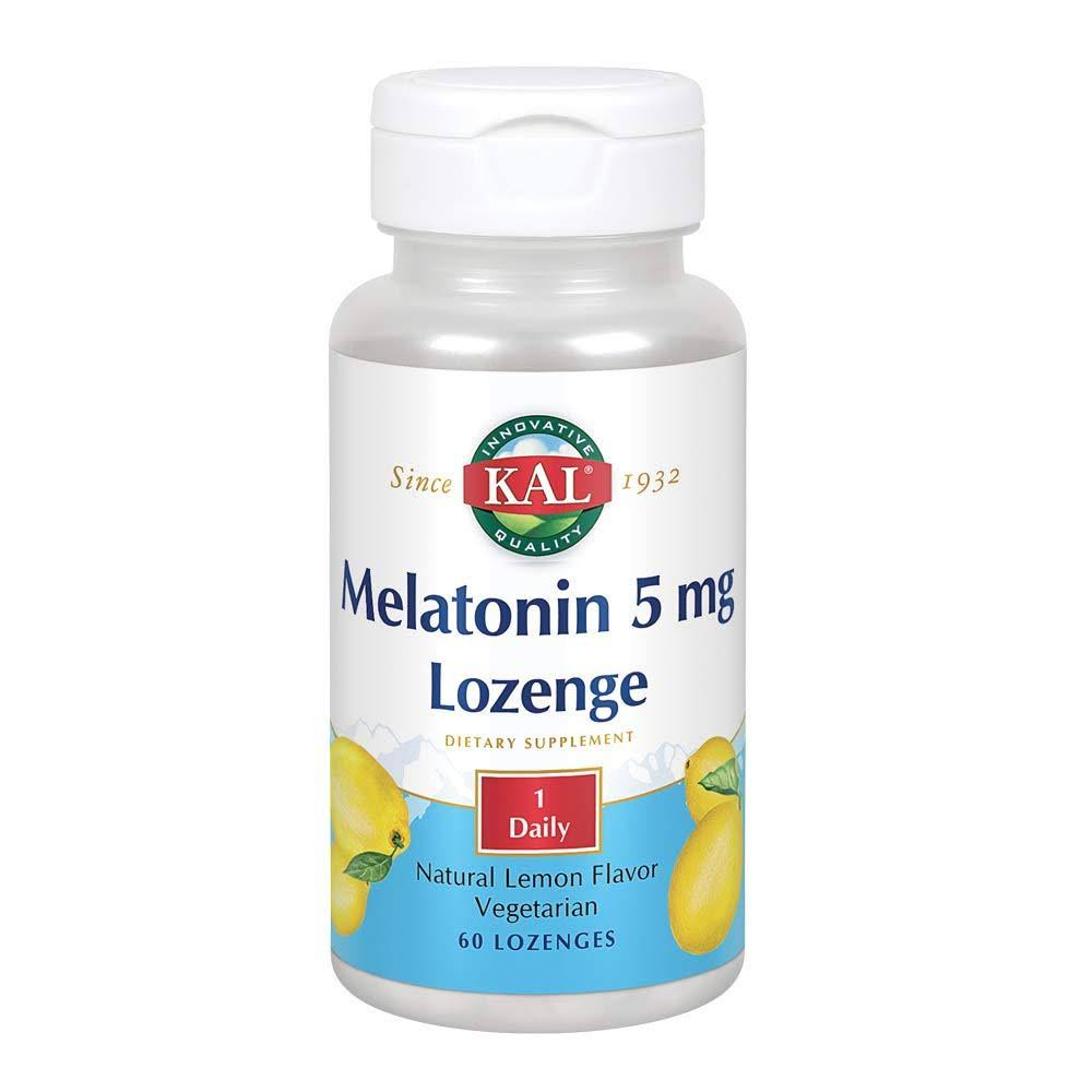 Kal Melatonin Lozenge - Lemon, 60 Lozenges