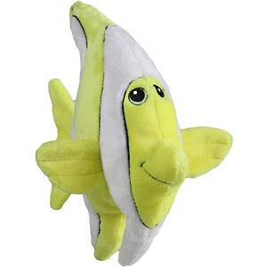 Smart Pet Love Tender Tuff Yellow Angelfish Dog Toy, Large