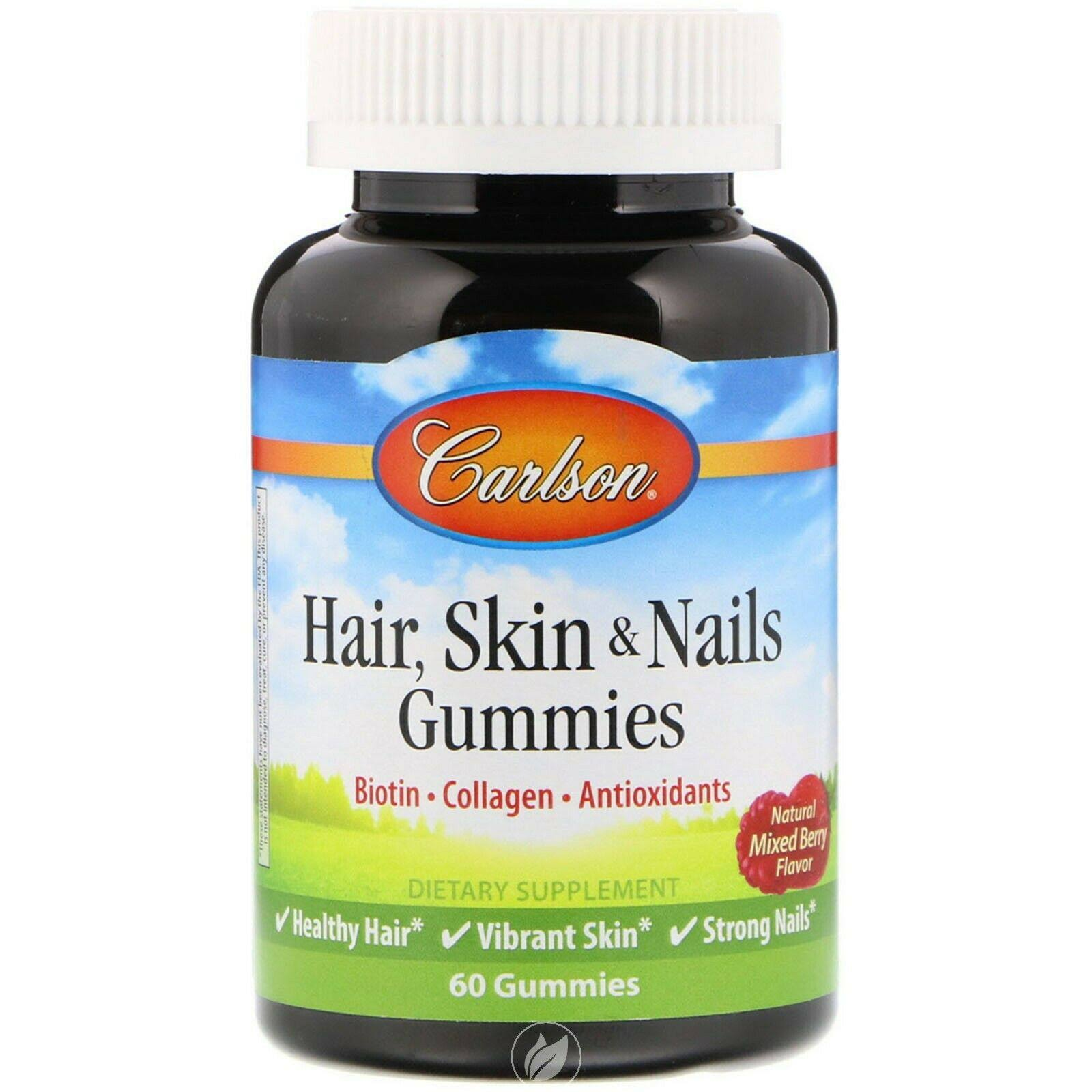 Carlson Hair, Skin & Nails Gummies 60 Gummies