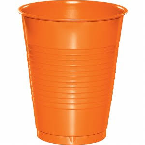 Creative Converting Plastic Cups - Orange, 20ct, 16oz