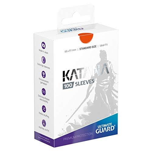 Ultimate Guard Katana Card Sleeves Pack - Orange, 100pk