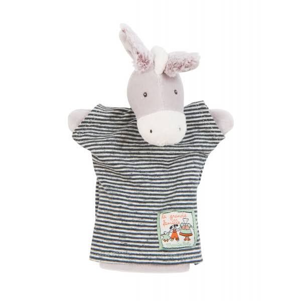 Hand Puppet Barnabé The Donkey La Grande Famille Moulin Roty