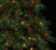 Bethlehem Lights Christmas Trees Qvc by Bethlehem Lights 9 U0027 Prelit Long Needle Pine Tree U2014 Qvc Com