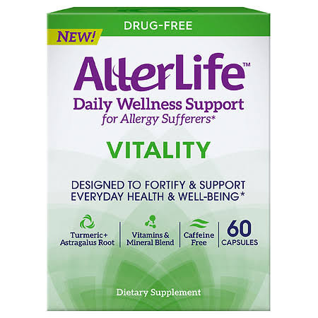 AllerLife Daily Wellness Support, Drug-Free, Vitality, Capsules - 60 capsules