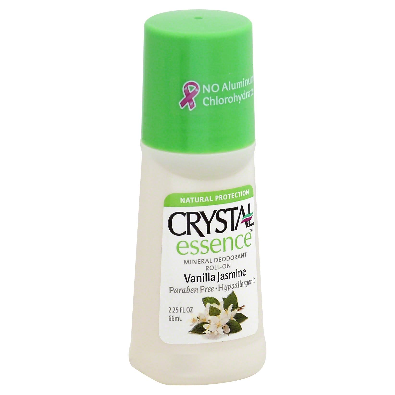 Crystal Deodorant Essence Roll-On - Vanilla Jasmine, 66ml
