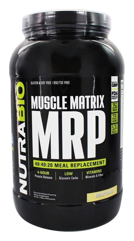 Nutrabio Muscle Matrix MRP Meal Replacement Powder - Creamy Vanilla, 2.4 lbs