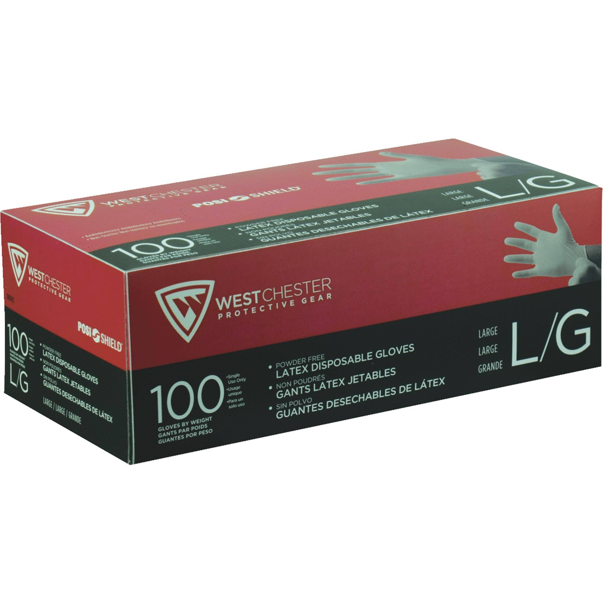 West Chester 2850/L 7 Mil Industrial Grade Latex Disposable Gloves