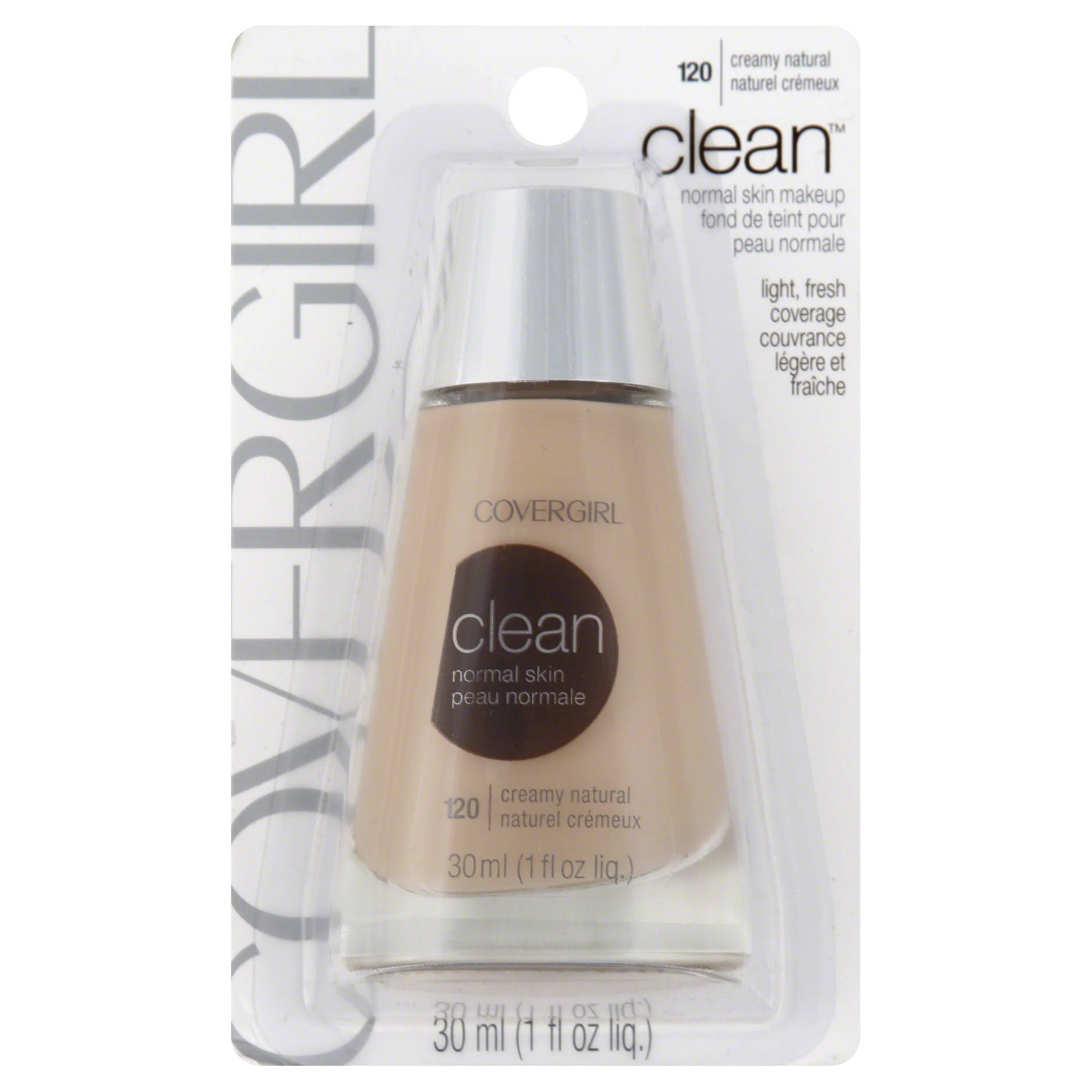 Covergirl Clean Liquid Makeup - Creamy Natural, 1oz